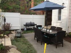 Patio and landscaping in backyard near Dayton Ohio_