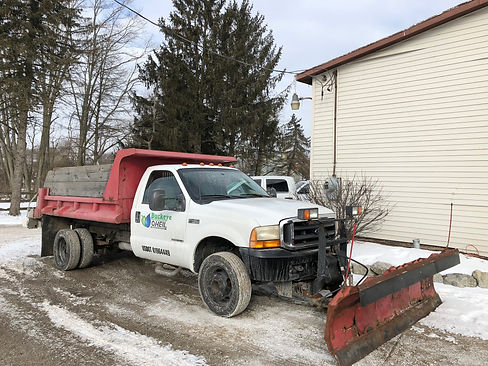 Snow plow for snow removal service in Dayton, Ohio