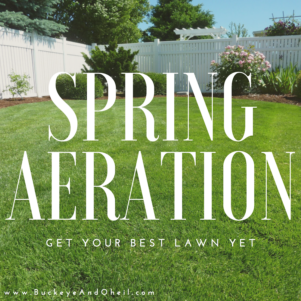 Spring lawn aeration for your best lawn yet! Dayton, Ohio
