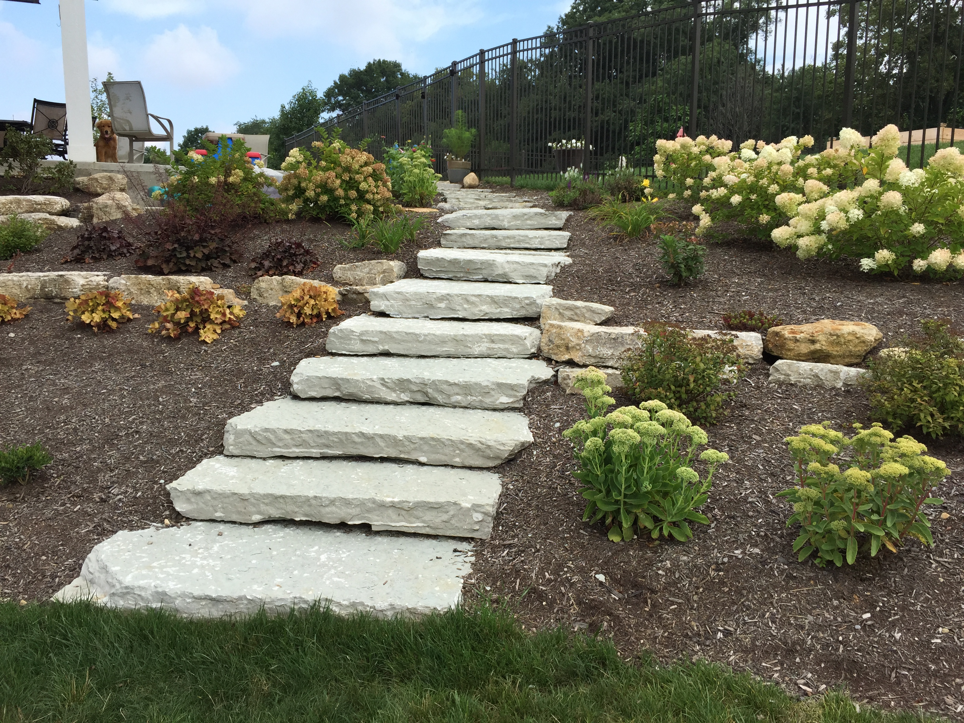 stone stairway landscaping