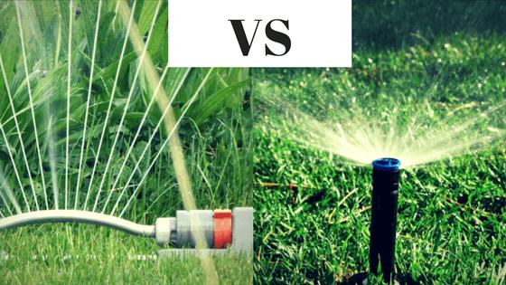Compare sprinkler to irrigation system