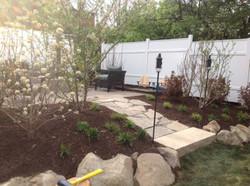 Paver pathway and landscape installation near Dayton Ohio_