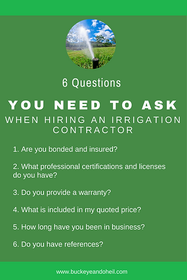 6 Questions You Need to Ask when Hiring Irrigation Contractor
