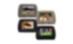 Encosto de Cabeça com Tela Monitor, Escravo sem Leitor de DVD, sem zíper, Preto, Cinza Grafite ou Bege Caramelo