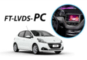 Interface de Desbloqueio de Vídeo Faaftech FT-LVDS-PC Peugeot, 2008,208,308,408, Citroen, Air Cross, C3, C4, DS4