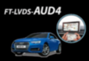 Interface de Desbloqueio de Vídeo Faaftech FT-LVDS-AUD4 Audi A4