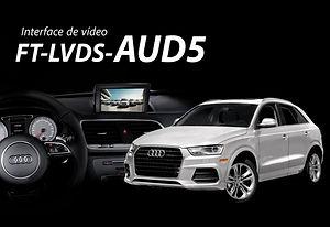 Interface de Desbloqueio de Vídeo Faaftech FT-LVDS-AUD5 Audi A1, A4, A5, Q3 e Q5