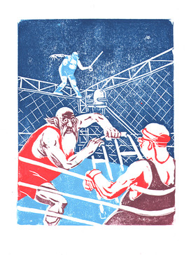 Cage fight!