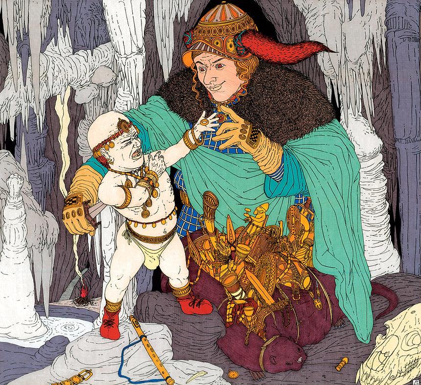 Loki e il nano Andvari