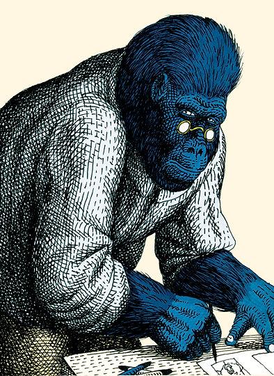 L'illustratore è uno scimmione
