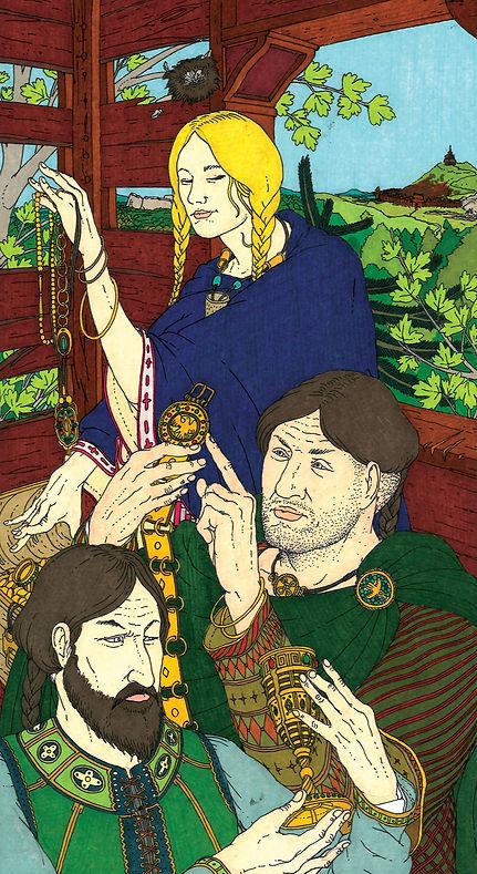 Brunilde convince Hogni e Gunnarr