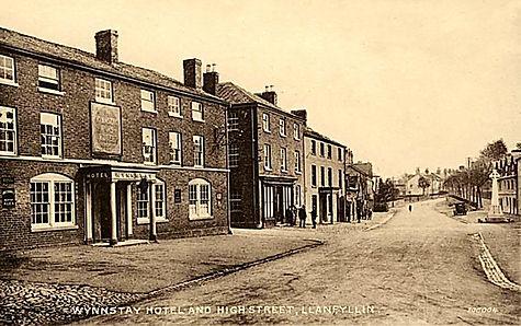 montgomeryshire, llanfyllin, old photo o