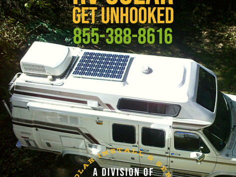 Get Solar For Your RV and Get Un-Hooked!