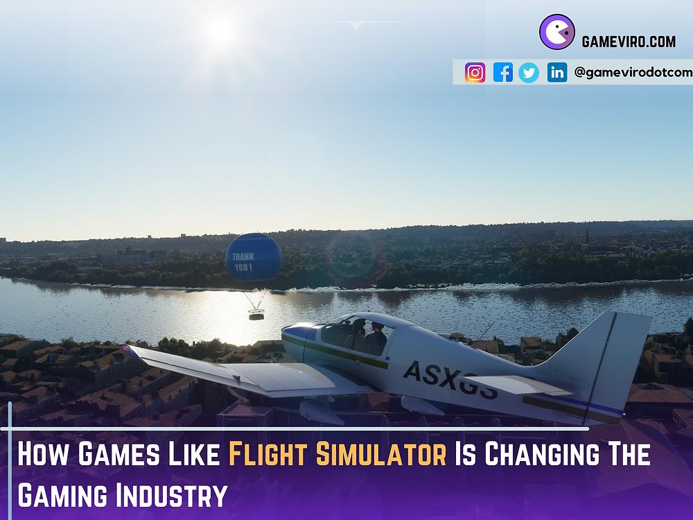 Microsoft Flight Simulator.