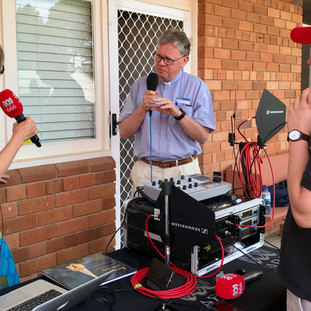ABC Canberra live broadcast at SJC