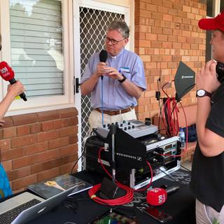 ABC Canberra live broadcast at SJC