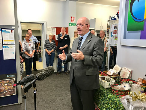Sir Peter Cosgrove at St John's Care Canberra