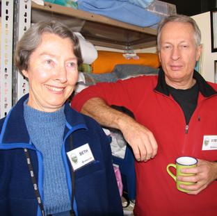SJC volunteers taking a break