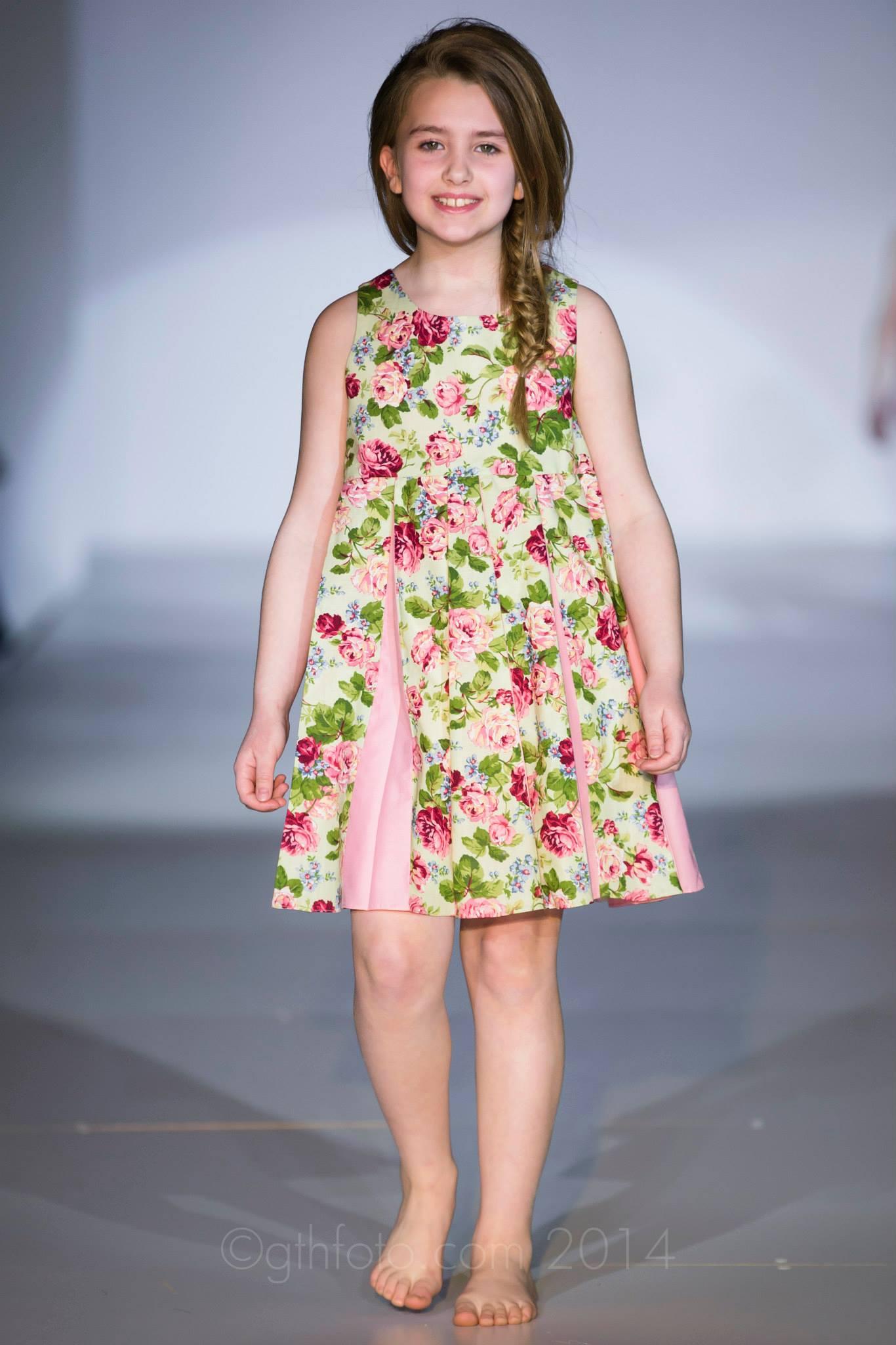 Green Garden Godet Dress
