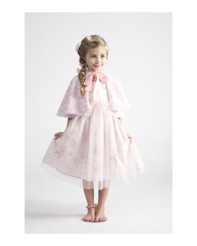 Rosebud Ruffle Dress & Cape