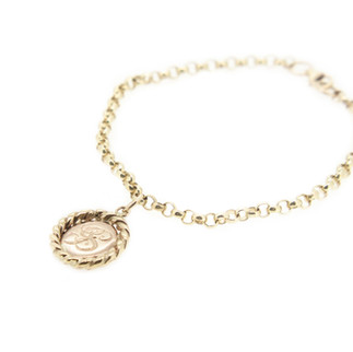 Sue's Personal Gold Charm Bracelet
