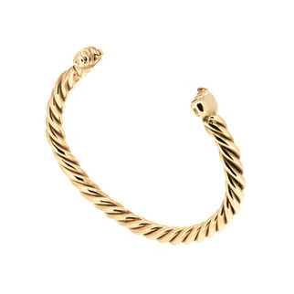 9ct rose gold baby fists bangle