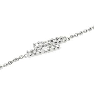 Sentimental Diamond and Platinum Bracelet