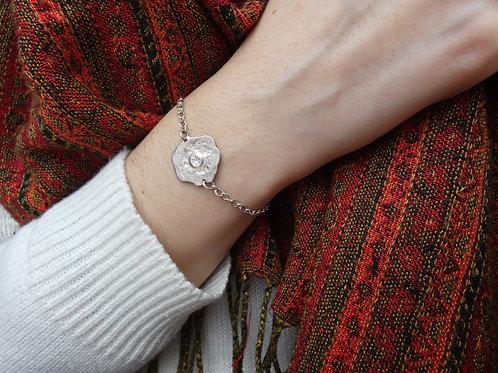 Bracelet chaîne flaque d'argent