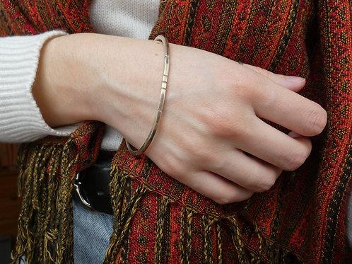 Bracelet jonc fil carré argent