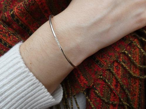 Bracelet jonc fil rond