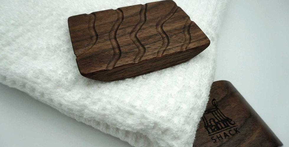 BLACK WALNUT NATURE SHACK SOAP HOLDER