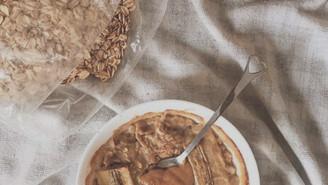 Oven Banana & Peanut Butter porridge