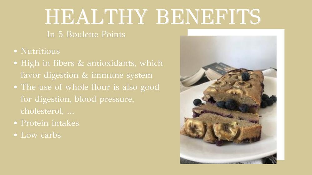 Blueberry banana bread - 5 health benefits