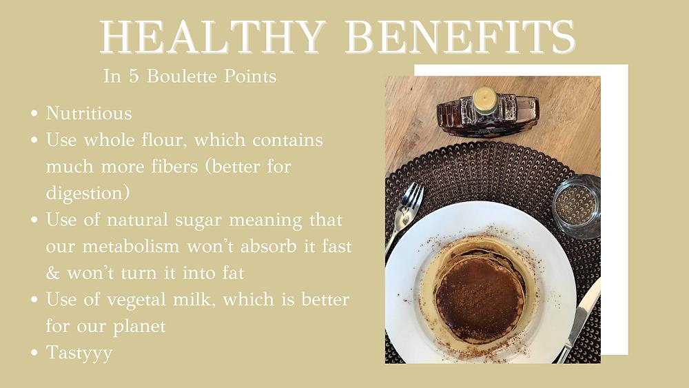 Healthy Cinnamon Pancake's health benefits