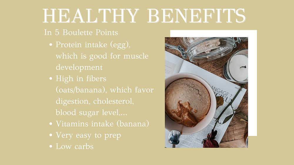 Peanut butter & meltly chocolate bowl cake's Healthy benefits in 5 boulette points