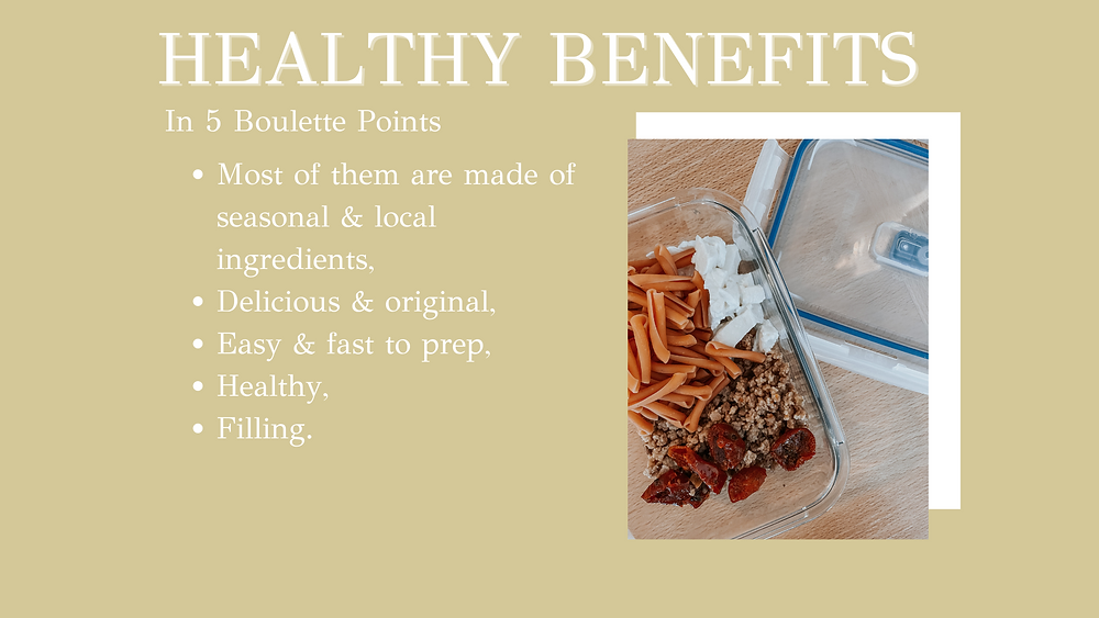 5 healthy benefits of my lunch recipes