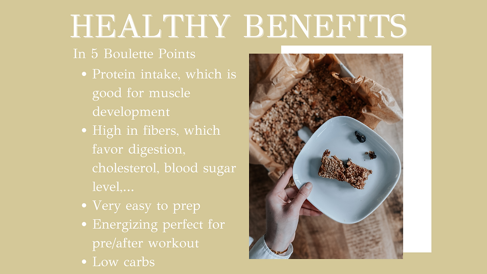 Protein bar energy-need. Healthy Benefits in 5 bullet points