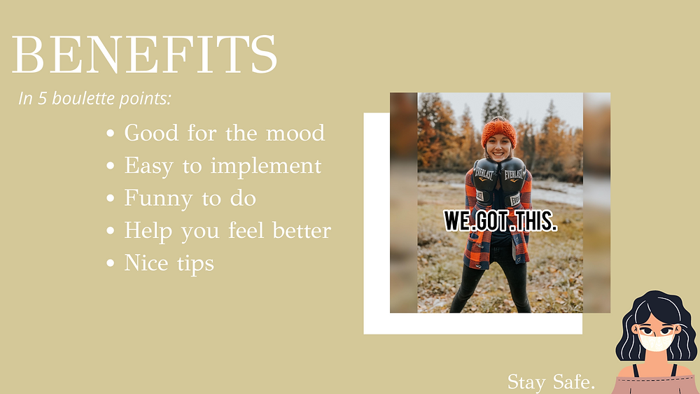 Benefits for your mental health in 5 boulette points