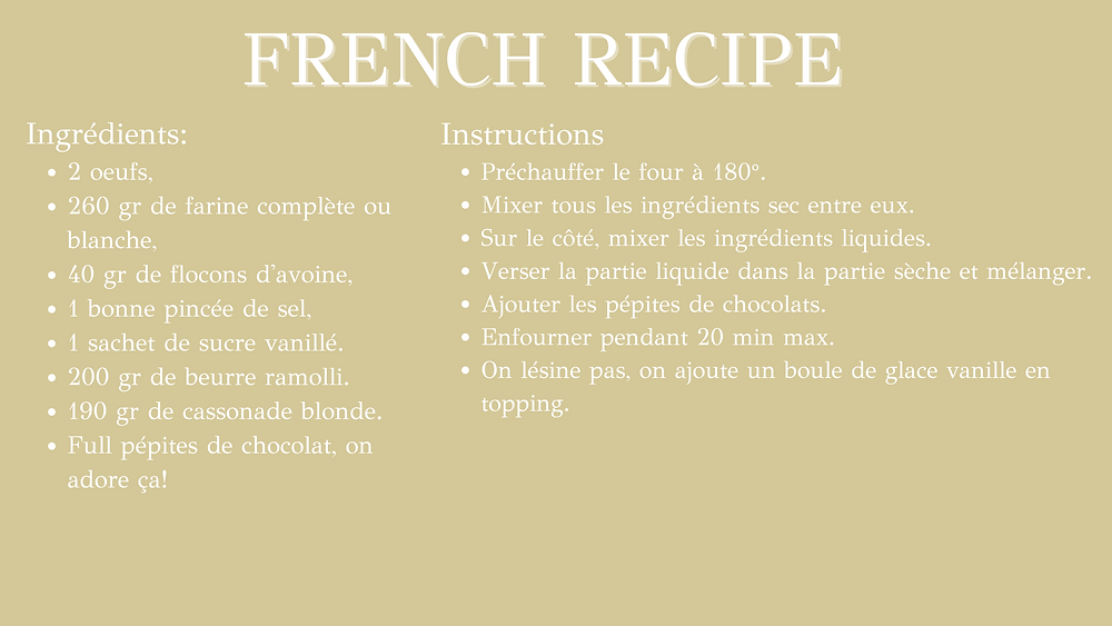 The Hidden Gem healthy food recipe - French Recipe