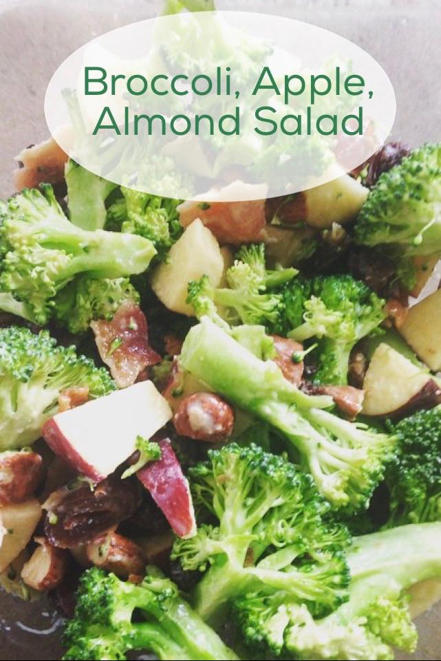 Broccoli, Apple, Almond Salad
