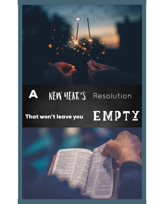 A New Year's Resolution That Won't Leave You Empty