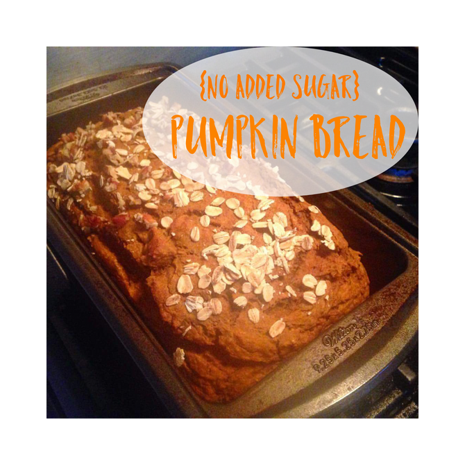 {No added sugar}Pumpkin Bread