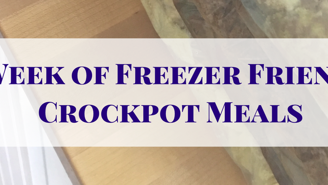 A Week of Freezer Friendly Crock pot Meals