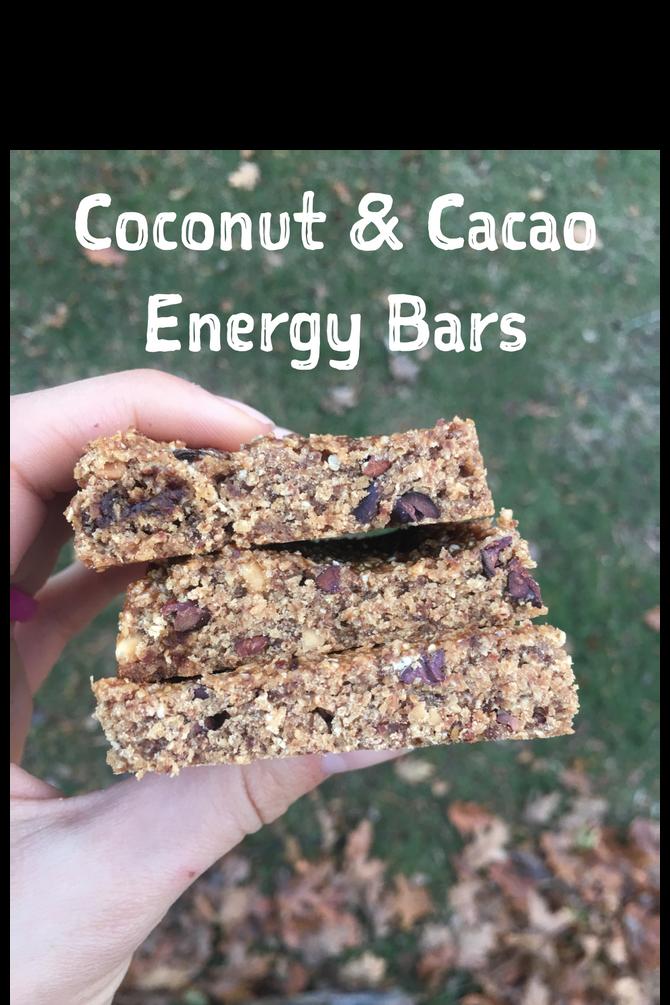 Coconut & Cacao Energy Bars