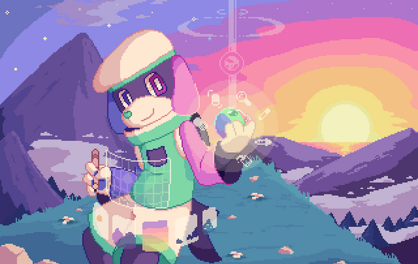 Wishdream's entry for the 2nd Pixelorama Splash Screen Contest