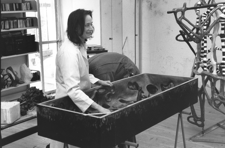 Niki in her studio