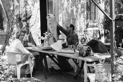 painting sculptures in Soisy
