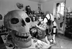 Niki and Bouveret in studio