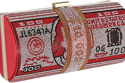 Dollar Bag Shiny Rhinestone Clutch Money Purses Shoulder Bag Hand Bag Tote