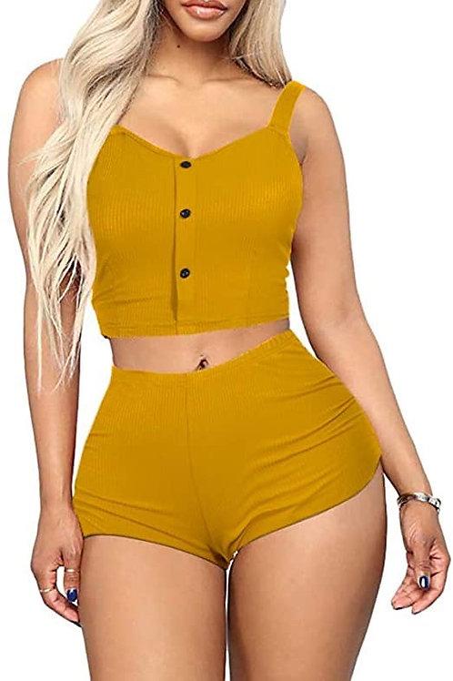 Sleepwear Camisole + Shorts Pjs Nightwear